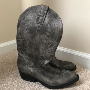 Women's Size 7 Gray Cowboy Boots